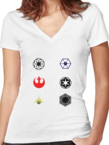 Star Wars Factions Women's Fitted V-Neck T-Shirt
