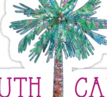 South Carolina Palmetto Tree and Moon by Jan Marvin Sticker