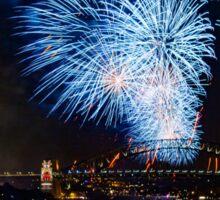 Sydney New Year's Eve Fireworks (Blue) Sticker