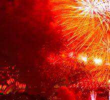 Sydney New Year's Eve Fireworks (Yellow) Sticker