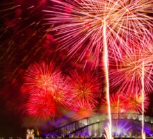 Sydney New Year's Eve Fireworks (Pink) Sticker