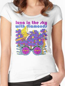 luna in the sky Women's Fitted Scoop T-Shirt
