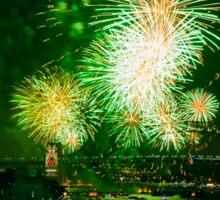 Sydney New Year's Eve Fireworks (Green) Sticker