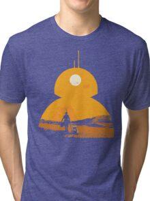 Star Wars The Force Awakens BB8 Poster Tri-blend T-Shirt