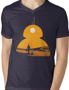 Star Wars The Force Awakens BB8 Poster Mens V-Neck T-Shirt