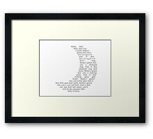 Hush Little Baby Moon Text Framed Print