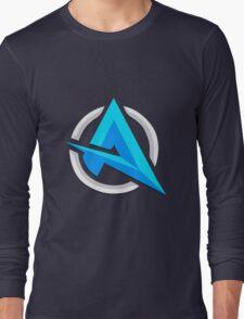 "Alia ""A""   Logo/Design   White Background    Long Sleeve T-Shirt"