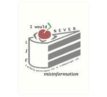 Misinformation Art Print