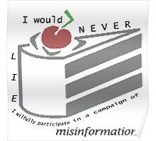 Misinformation Poster