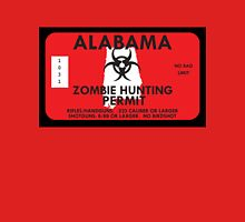Zombie Hunting Permit - ALABAMA Unisex T-Shirt