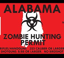 Zombie Hunting Permit - ALABAMA by SMALLBRUSHES