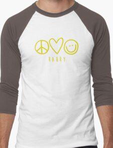 Raury-Peace Love Happiness Men's Baseball ¾ T-Shirt