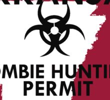 Zombie Hunting Permit - ARKANSAS Sticker