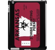 Zombie Hunting Permit - ARKANSAS iPad Case/Skin