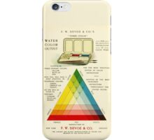 Gorgeous early 20th c. color instruction image iPhone Case/Skin