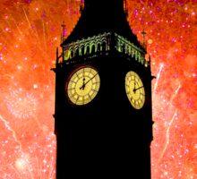 Big Ben - New Years Eve Fireworks 2010 -  2011 - HDR Sticker