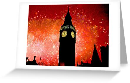 Big Ben - New Years Eve Fireworks 2010 -  2011 - HDR by Colin  Williams Photography
