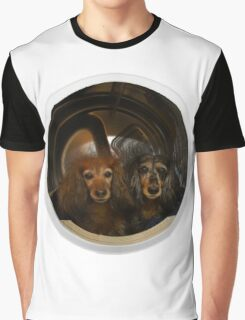 Dachshunds in the Dryer Graphic T-Shirt