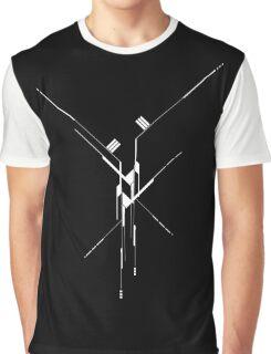 Futuristic Geometric Lines Graphic T-Shirt
