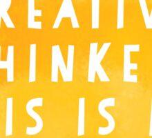 Creative Thinker Sticker