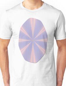 Fractal Pinch in Rose Quartz and Serenity Unisex T-Shirt