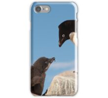 "Adelie Penguin and Chick ~ ""Well......if you say so dad"" iPhone Case/Skin"