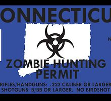 Zombie Hunting Permit - CONNECTICUT by SMALLBRUSHES