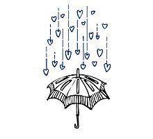 Raining Love! Photographic Print