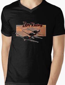 Zero Racing Mens V-Neck T-Shirt