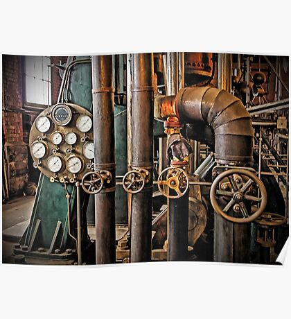 The Old Pumping Station - Steam Engine Poster