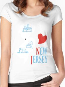 i love new jersey Women's Fitted Scoop T-Shirt