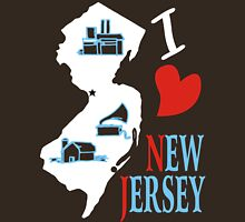 i love new jersey Womens Fitted T-Shirt