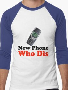 New Phone Who Dis Men's Baseball ¾ T-Shirt