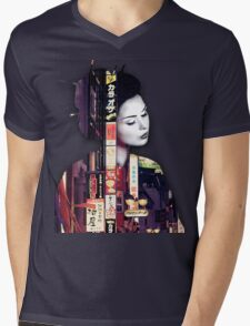 Geisha Mens V-Neck T-Shirt
