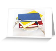 Have a book for breakfast Greeting Card