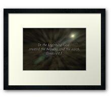 """""""Genesis 1:1"""" by Carter L. Shepard""""  Framed Print"""