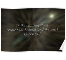 """Genesis 1:1"" by Carter L. Shepard""  Poster"