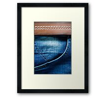Jeans pocket Framed Print