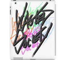 Retro Wasted Society Logo iPad Case/Skin
