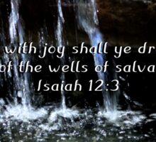 """Isaiah 12:3"" by Carter L. Shepard""  Sticker"
