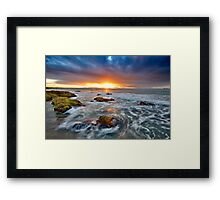Last surf for a day Framed Print