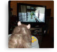 gaming rat Canvas Print