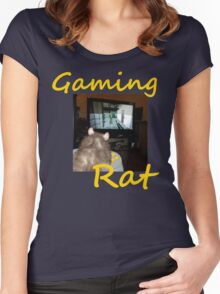 gaming rat Women's Fitted Scoop T-Shirt