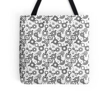 Crop Circles (Black Lines) Tote Bag