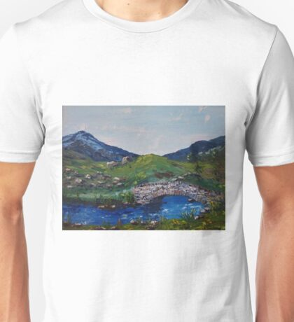 Packhorse Bridge - Oil Palette Knife Painting Unisex T-Shirt