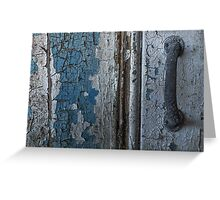 Decayed Doorway Greeting Card
