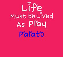 ╚»★Plato's Motivational Quote Clothing & Stickers & Cases & Tote Bags & Home Decor & Stationary★«╝ Womens Fitted T-Shirt