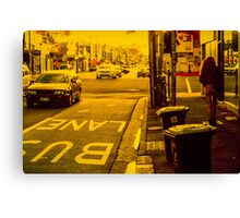 Bus lane on Johnson Street Canvas Print