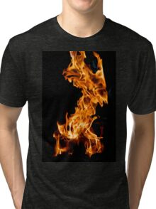 Orange flame Tri-blend T-Shirt
