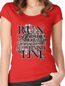 Run like Benedict is waiting for you Women's Fitted Scoop T-Shirt